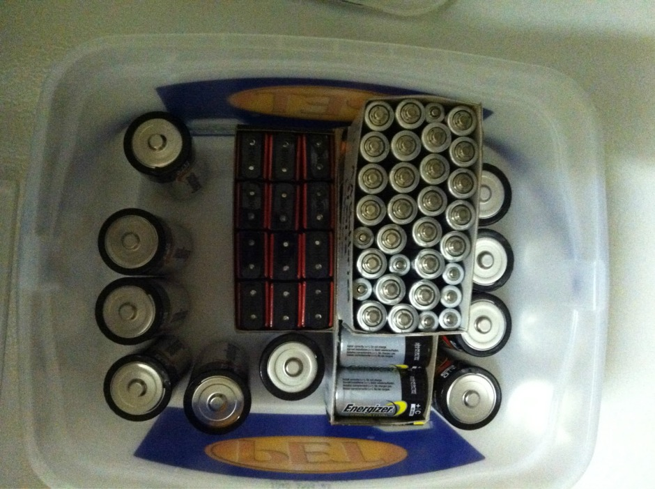 Organizing the Stash of Batteries