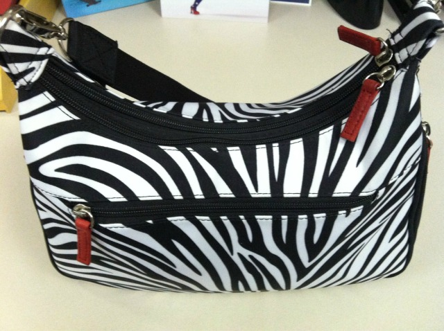 Gun Tote'n Mamas' Conceal Carry Zebra-Print Basic Hobo Handbag
