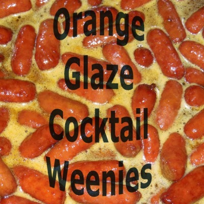 Crock Pot Orange Glaze Cocktail Weenies Appetizer Snacks