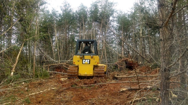 Pushing Trees Over with a Caterpillar D4K Bulldozer