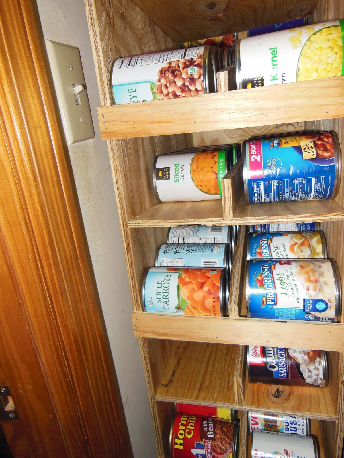 DIY FIFO Can Rack | Creative Canned Food Storage Ideas