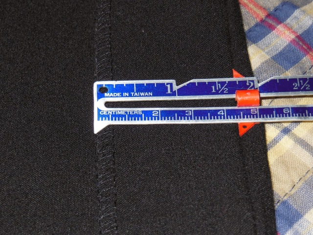 Measuring Width of Hem