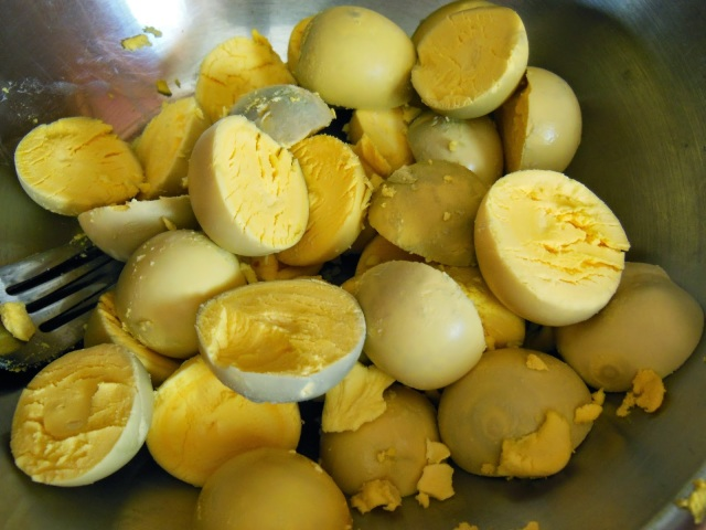 Egg Yolks Ready to Be Deviled