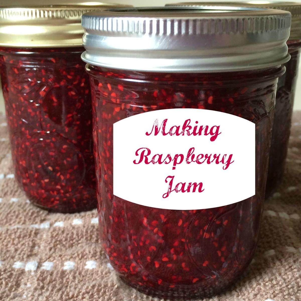 Making Raspberry Jam