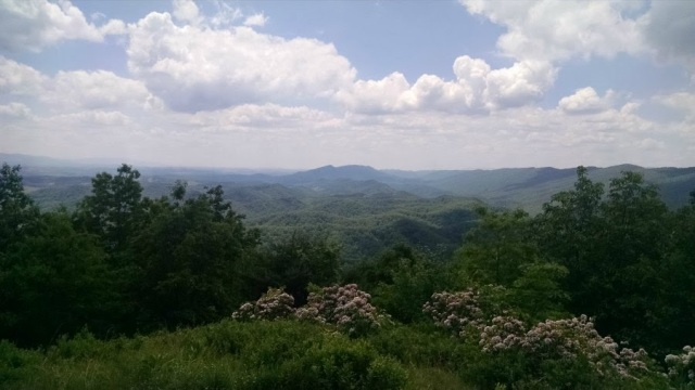 View from Vista of Molly's Knob Hungry Mother State Park, Marion VA