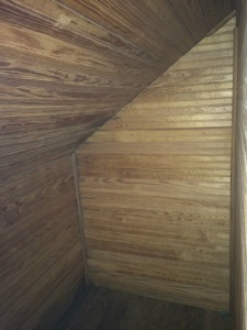 Attic Closet with Tongue and Groove Beaded Board