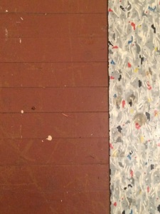 Painted Hardwood Floors in Old Farmhouse