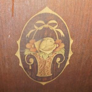 Flower Basket Design on Antique Bedroom Furniture Suite