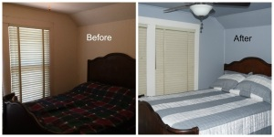Makeover Upstairs Bedroom in a 1940's Farmhouse
