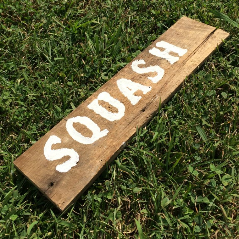 Farm Fresh Squash Sign from Re-purposed Wood